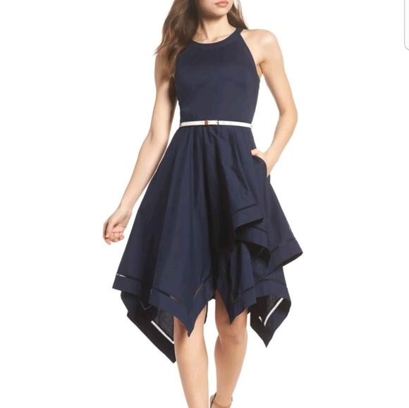 8629122ca9036 Eliza J Dresses   Skirts - Eliza J handkerchief fit   Flare midi dress